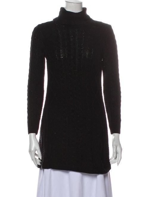 Gianni Versace Vintage Turtleneck Sweater Black