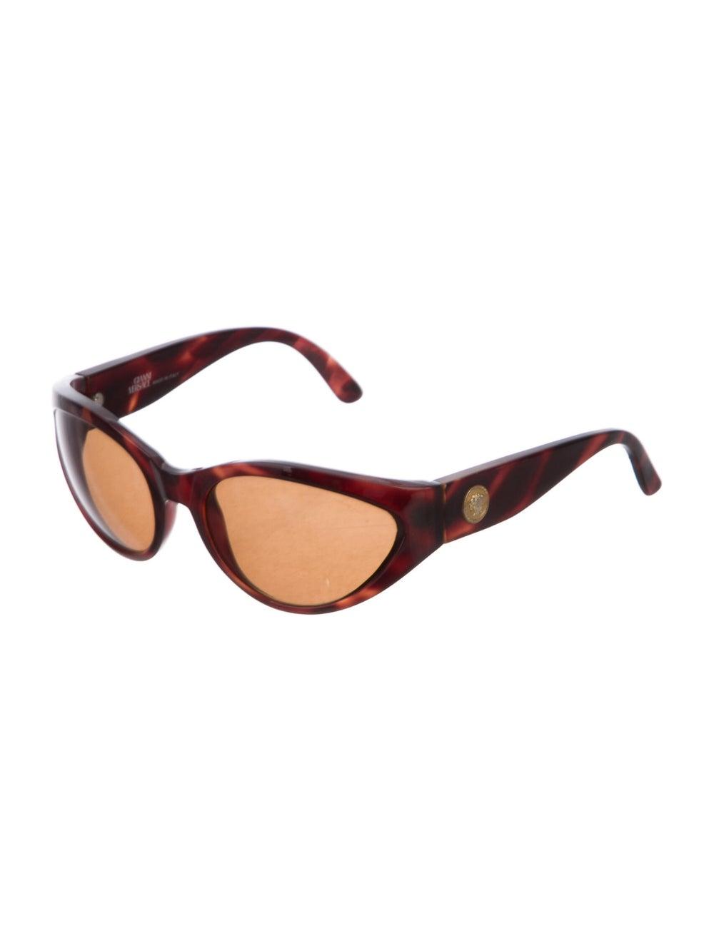 Gianni Versace Cat-Eye Tinted Sunglasses Brown - image 2
