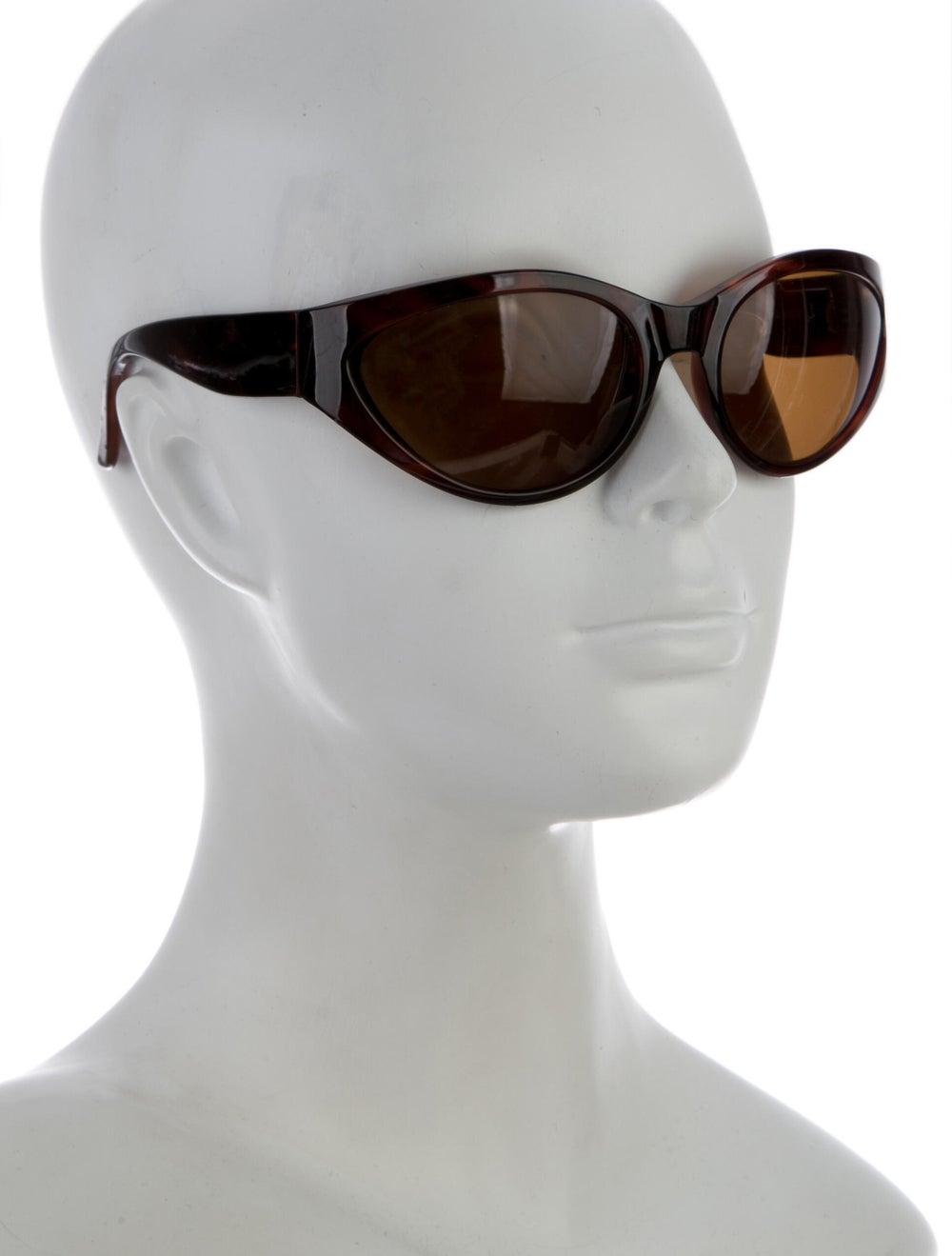 Gianni Versace Cat-Eye Tinted Sunglasses Brown - image 4