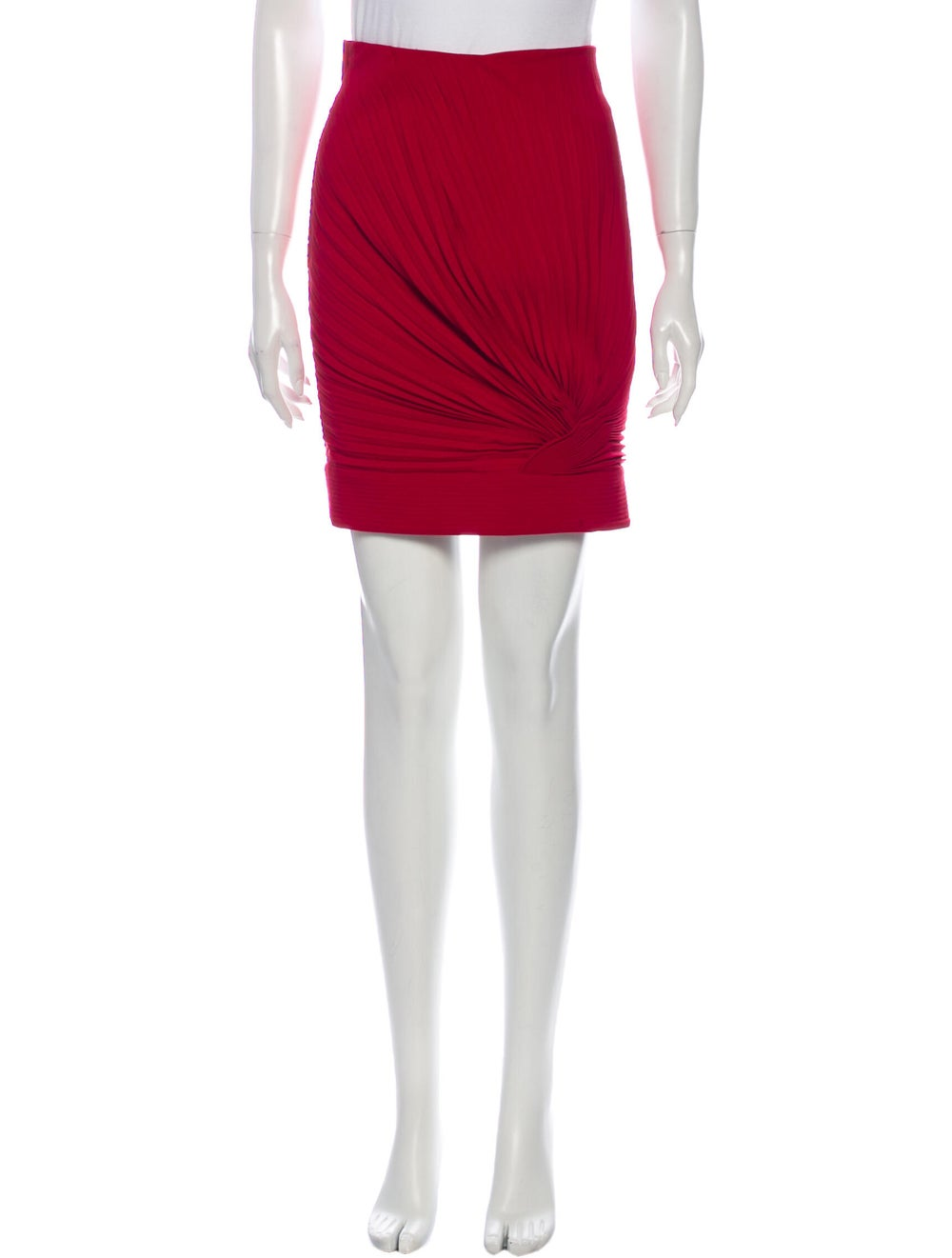 Gianni Versace Wool Mini Skirt Wool - image 1