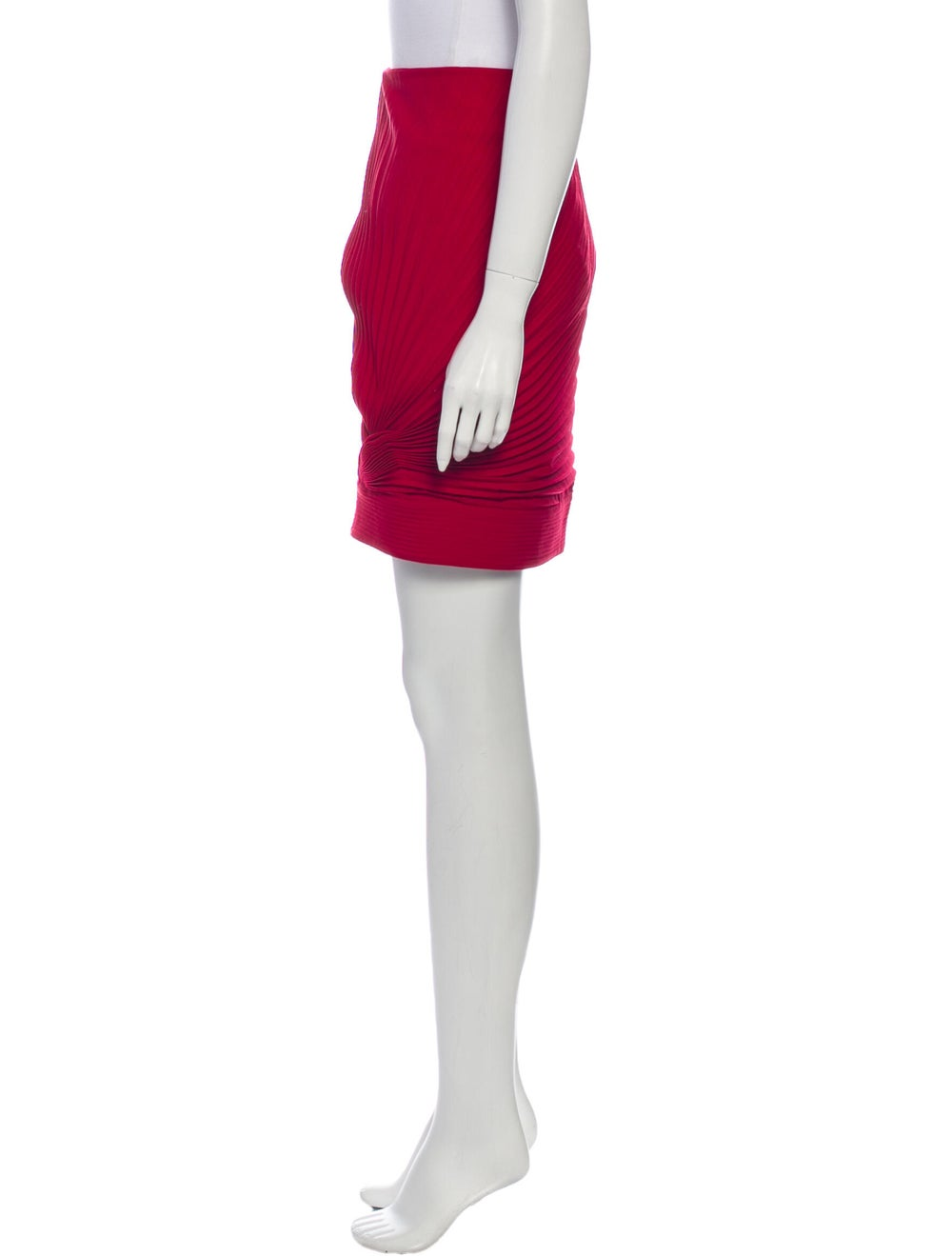 Gianni Versace Wool Mini Skirt Wool - image 2