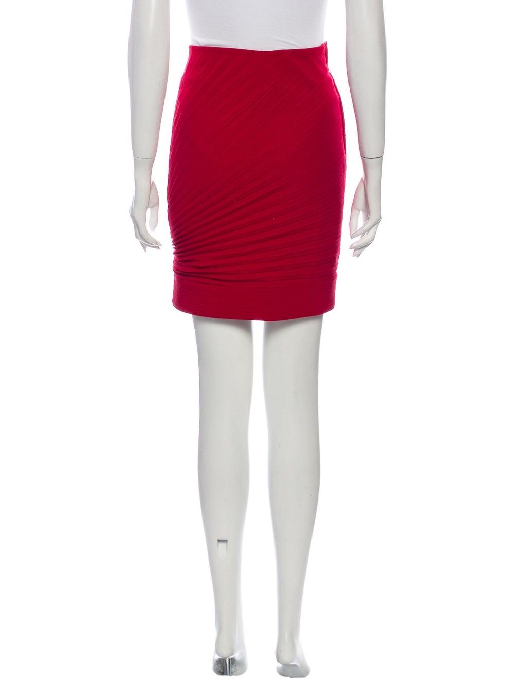 Gianni Versace Wool Mini Skirt Wool - image 3