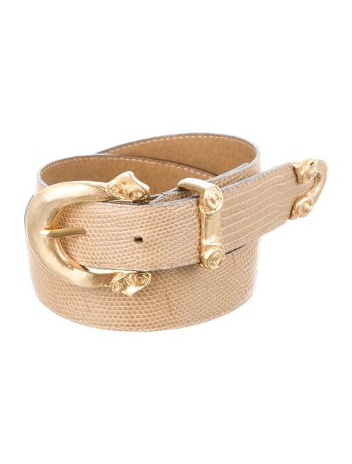 Gianni Versace Leather Belt Gold - image 1