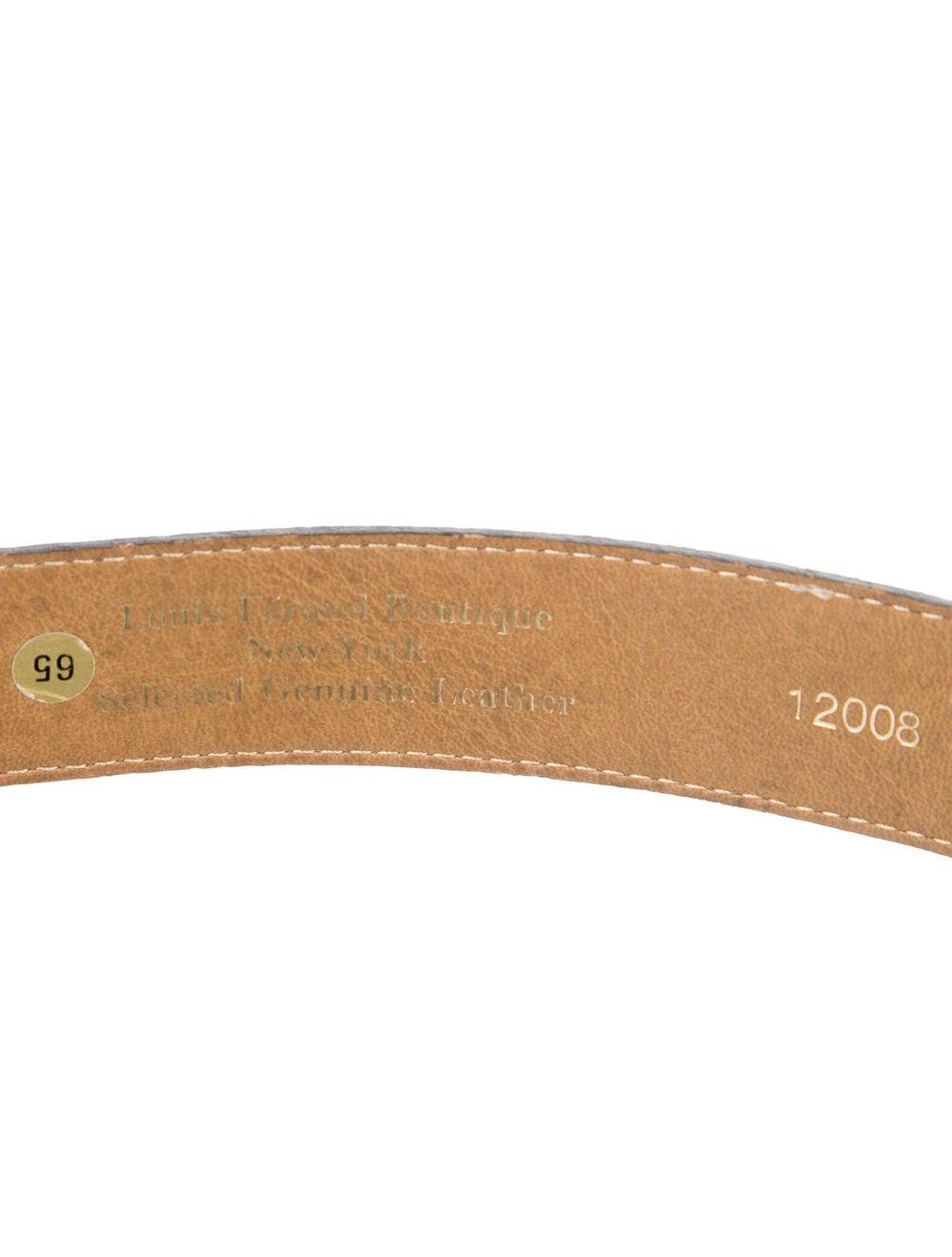 Gianni Versace Leather Belt Gold - image 2