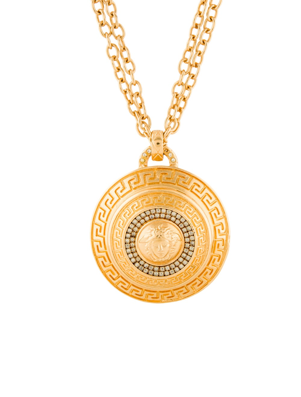 Gianni Versace Vintage Crystal Jumbo Medusa Medal… - image 1