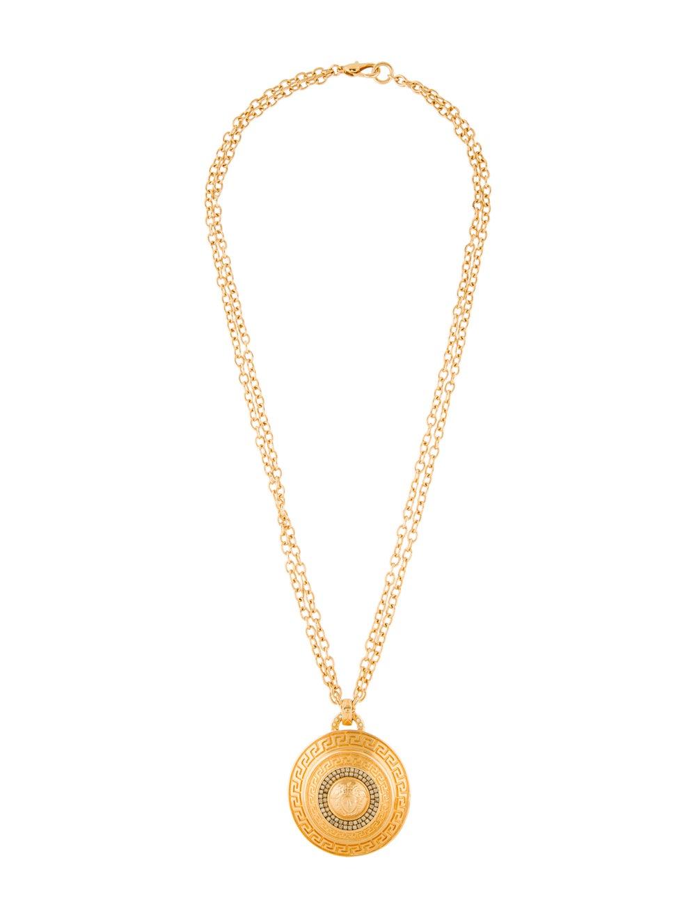 Gianni Versace Vintage Crystal Jumbo Medusa Medal… - image 2