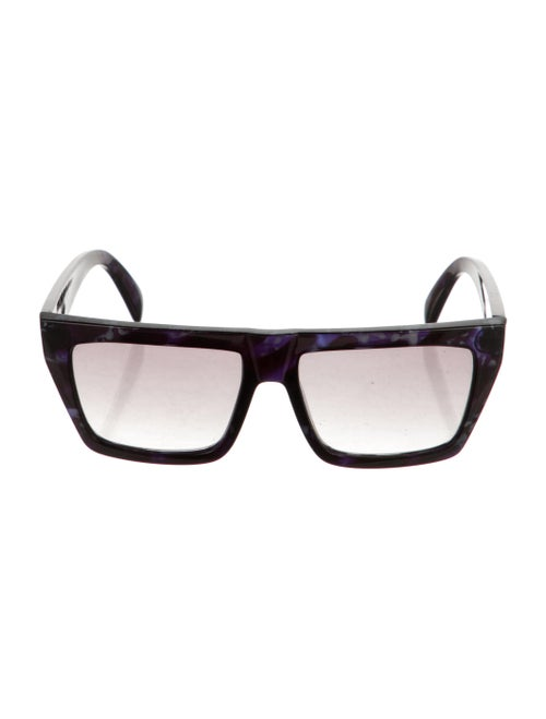 Gianni Versace Square Gradient Sunglasses Blue - image 1