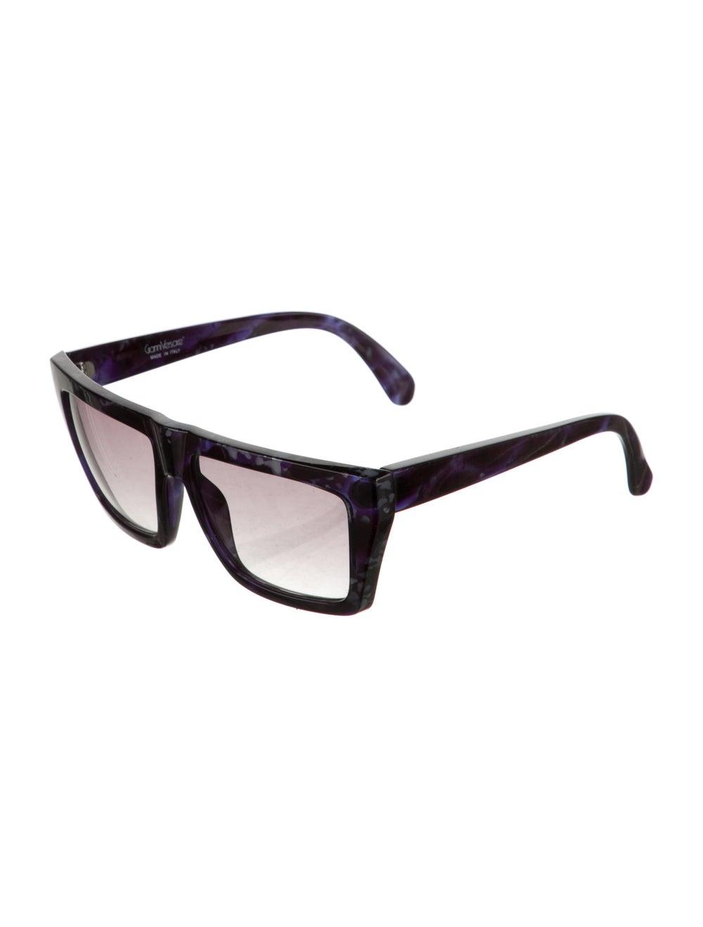 Gianni Versace Square Gradient Sunglasses Blue - image 2