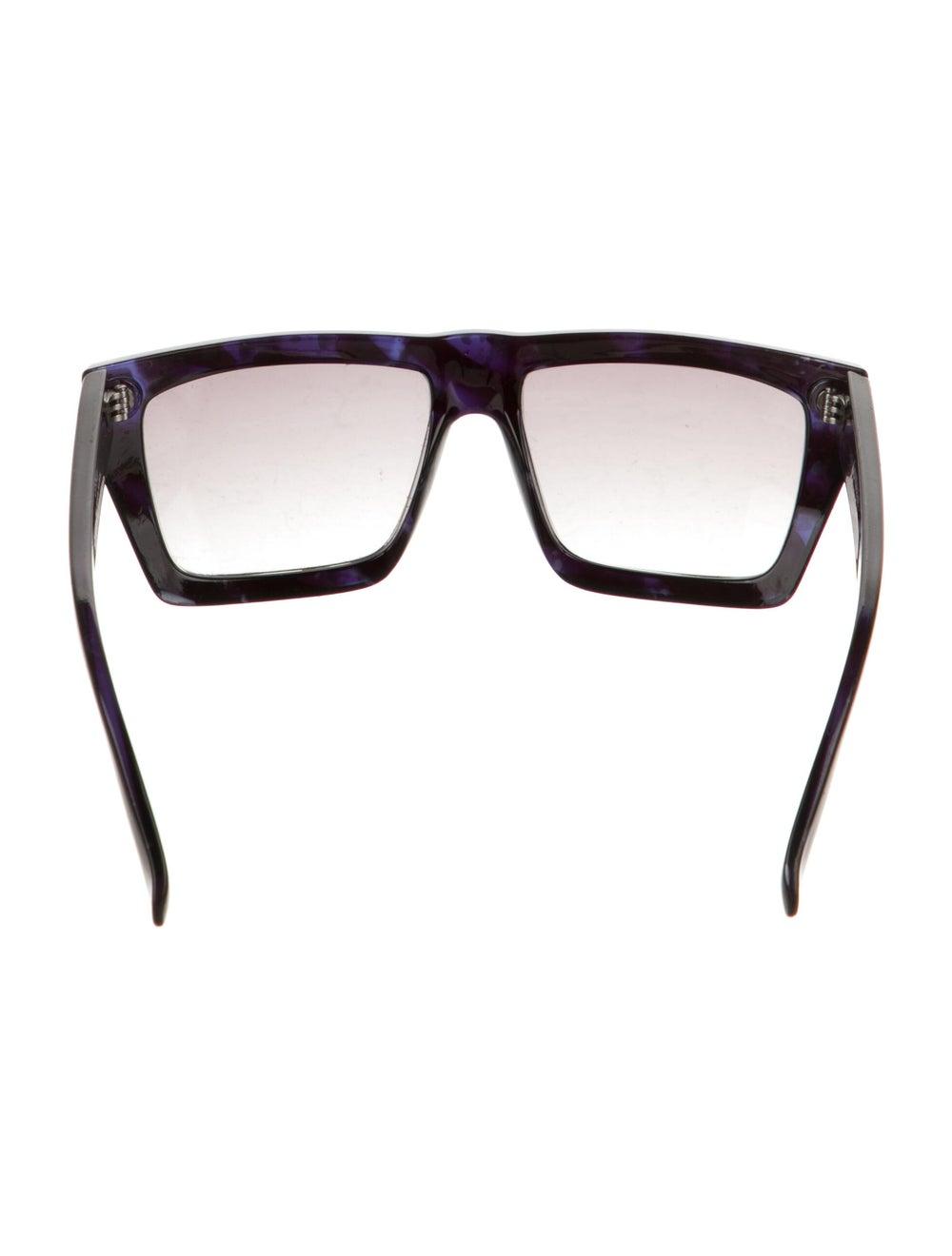 Gianni Versace Square Gradient Sunglasses Blue - image 3
