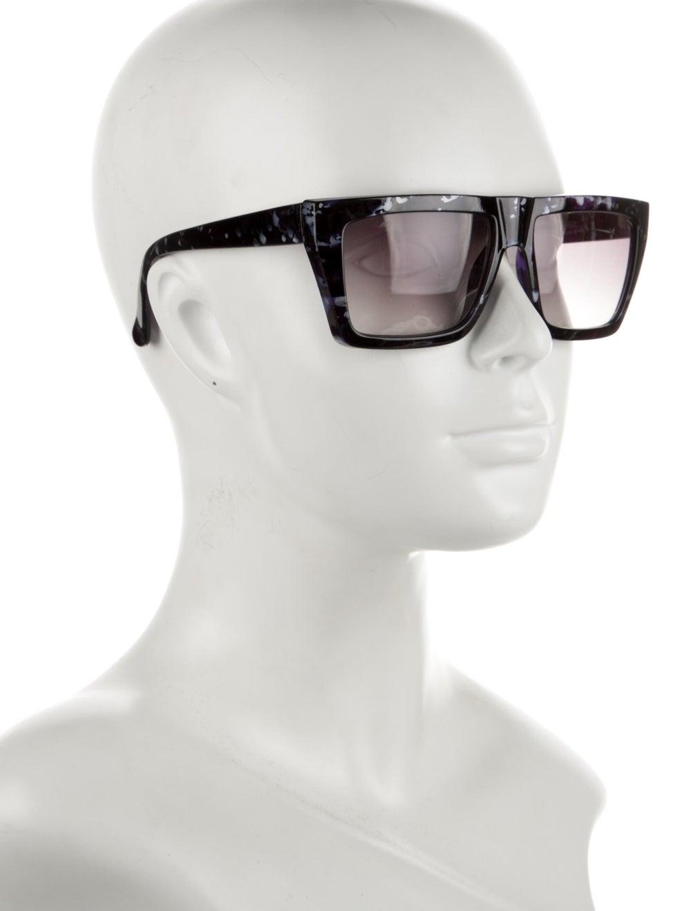 Gianni Versace Square Gradient Sunglasses Blue - image 4