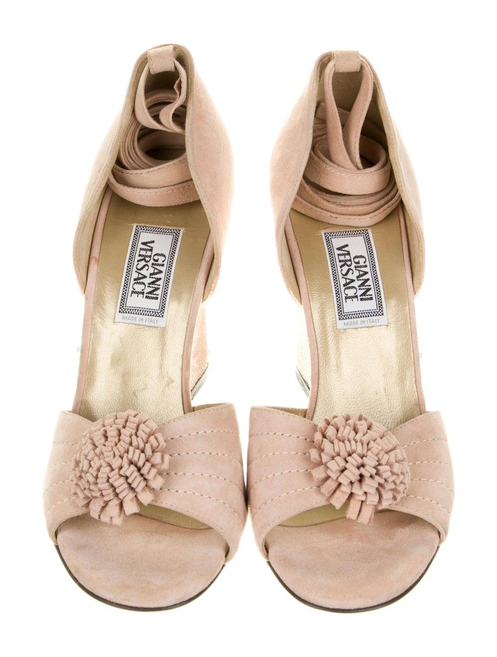Gianni Versace Vintage Suede Sandals - image 3