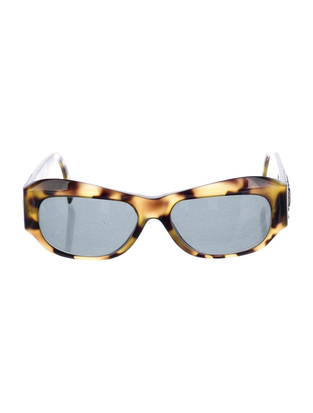 Gianni Versace Cat-Eye Mirrored Sunglasses Brown - image 1