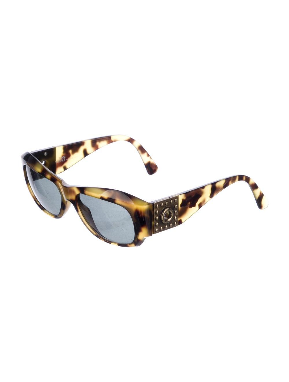 Gianni Versace Cat-Eye Mirrored Sunglasses Brown - image 2