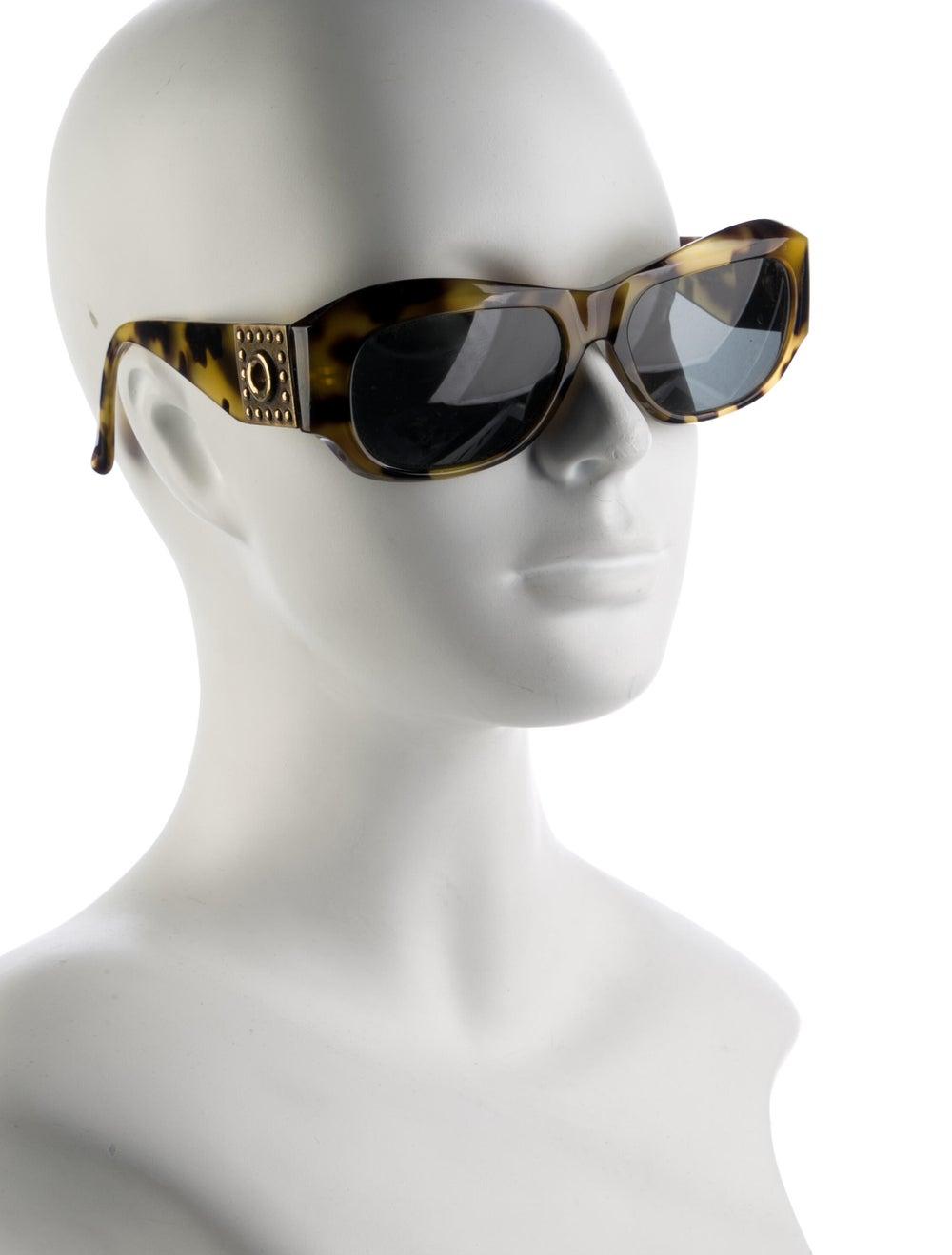 Gianni Versace Cat-Eye Mirrored Sunglasses Brown - image 4