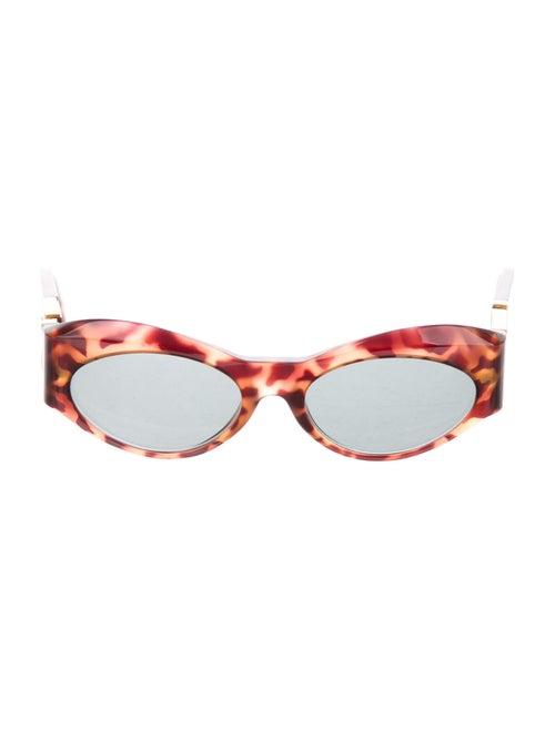 Gianni Versace Round Mirrored Sunglasses Brown - image 1