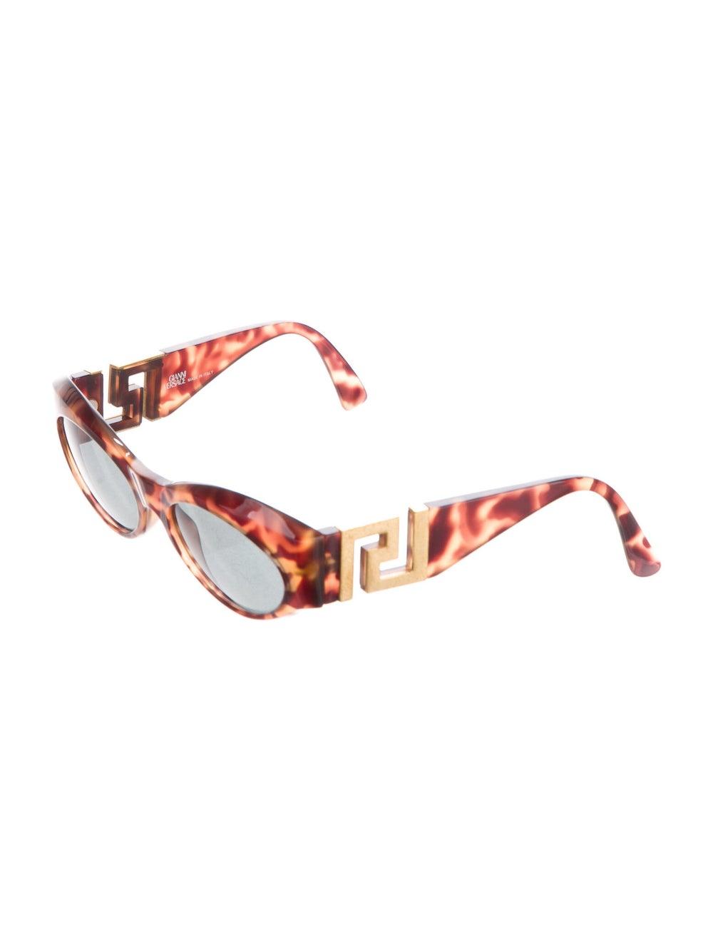 Gianni Versace Round Mirrored Sunglasses Brown - image 2