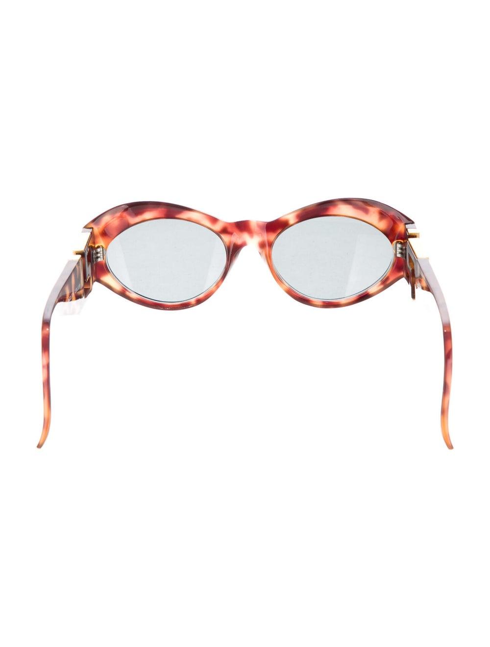 Gianni Versace Round Mirrored Sunglasses Brown - image 3
