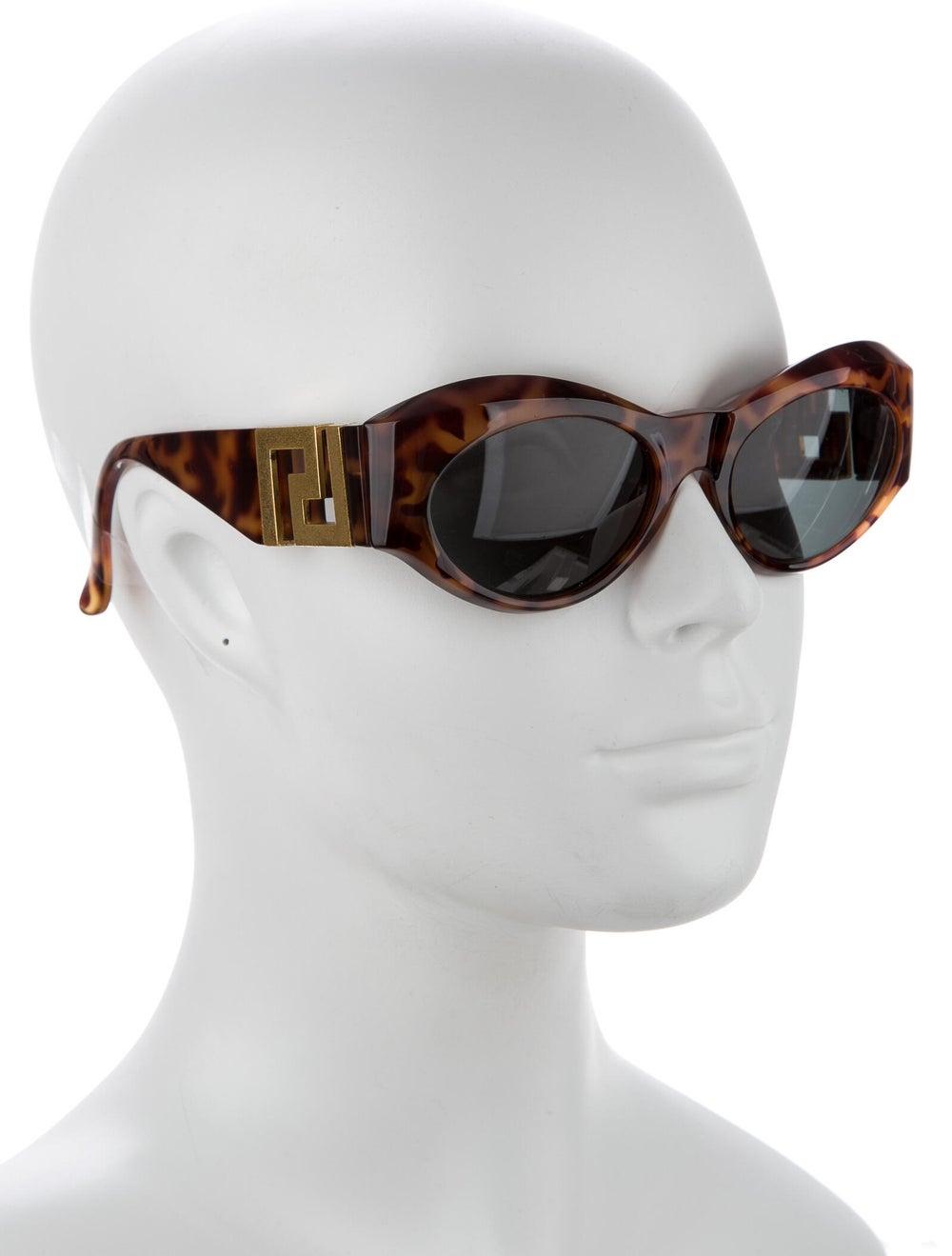 Gianni Versace Round Mirrored Sunglasses Brown - image 4