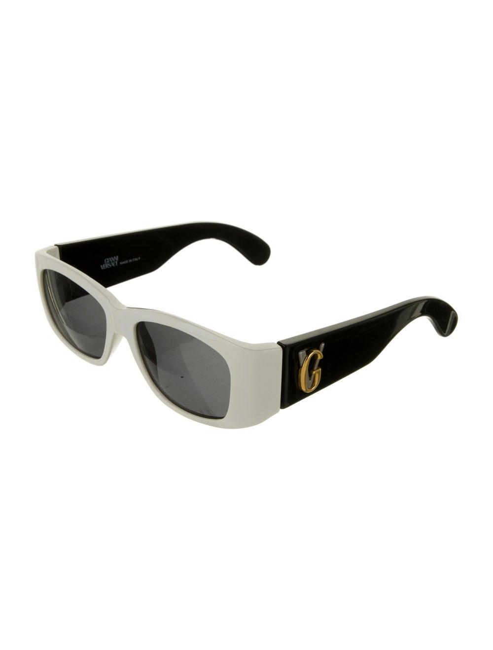 Gianni Versace Square Tinted Sunglasses Black - image 2