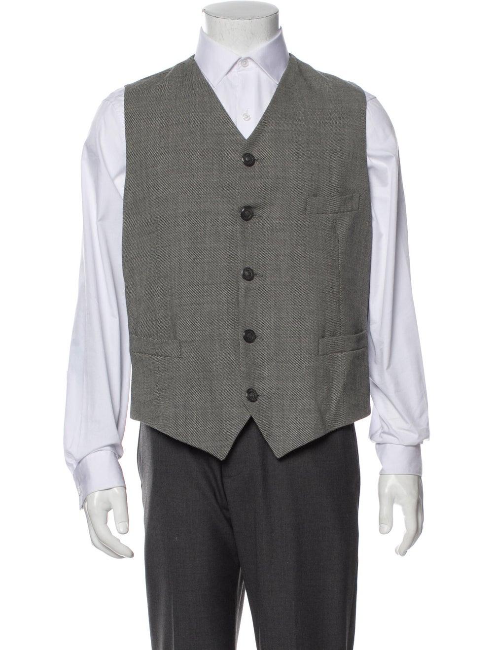 Gianni Versace Wool Two-Piece Blazer Wool - image 4