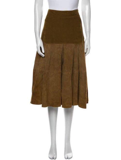 Gianni Versace Vintage Midi Length Skirt Brown - image 1