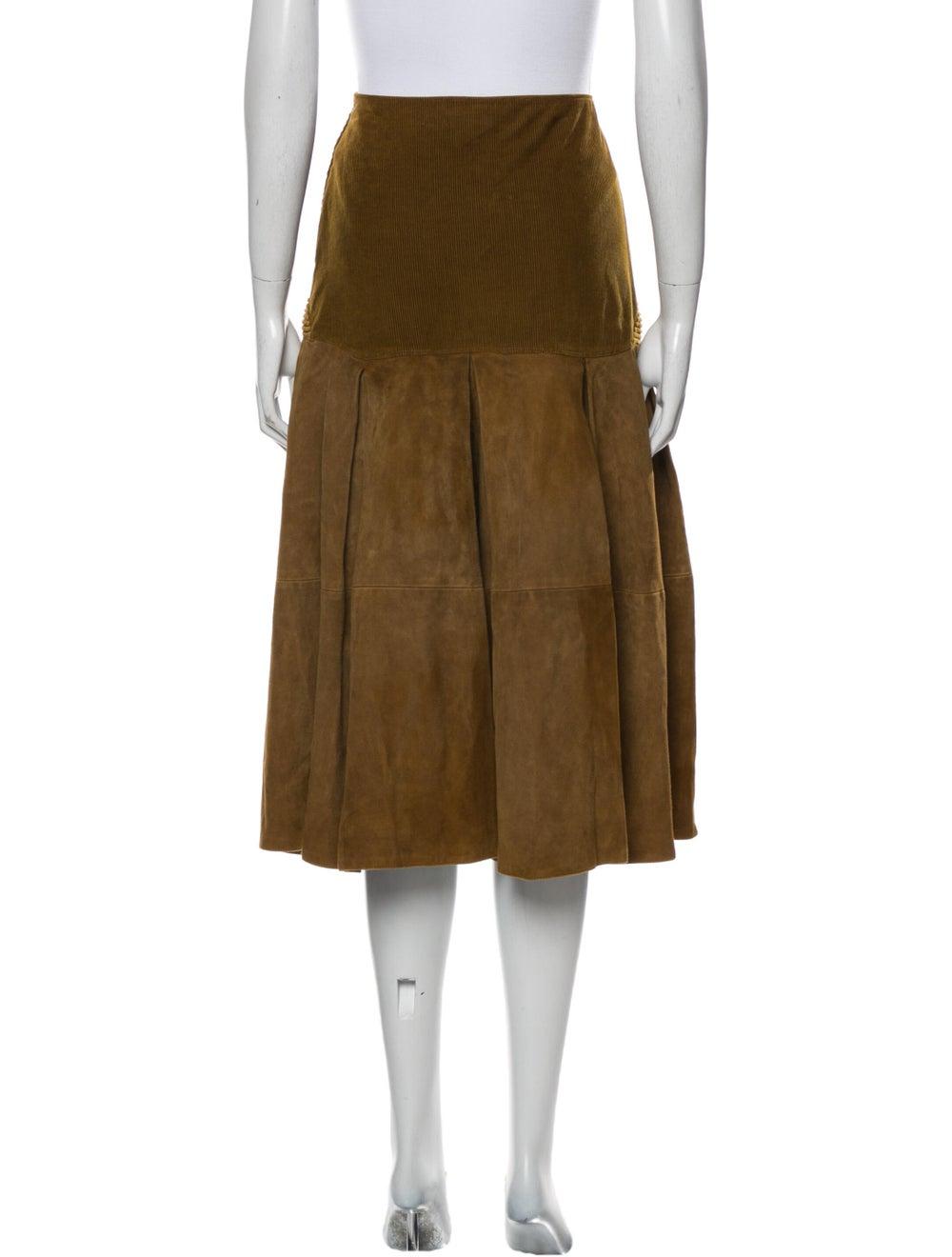 Gianni Versace Vintage Midi Length Skirt Brown - image 3