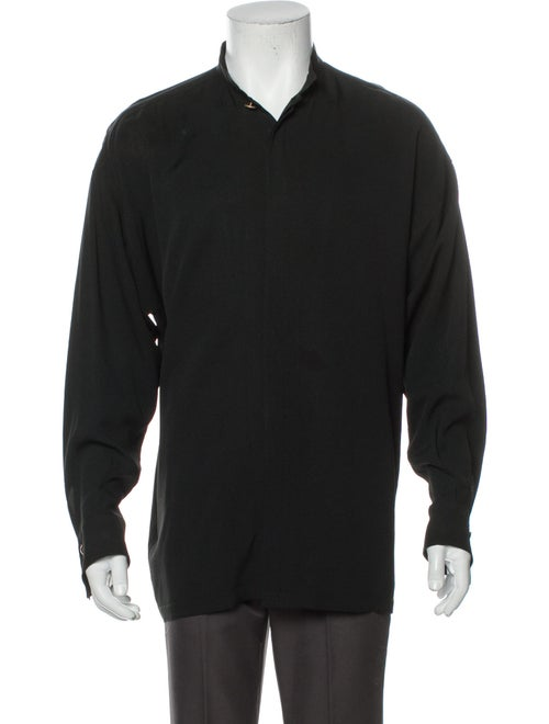 Gianni Versace Vintage 1990's Shirt Black - image 1