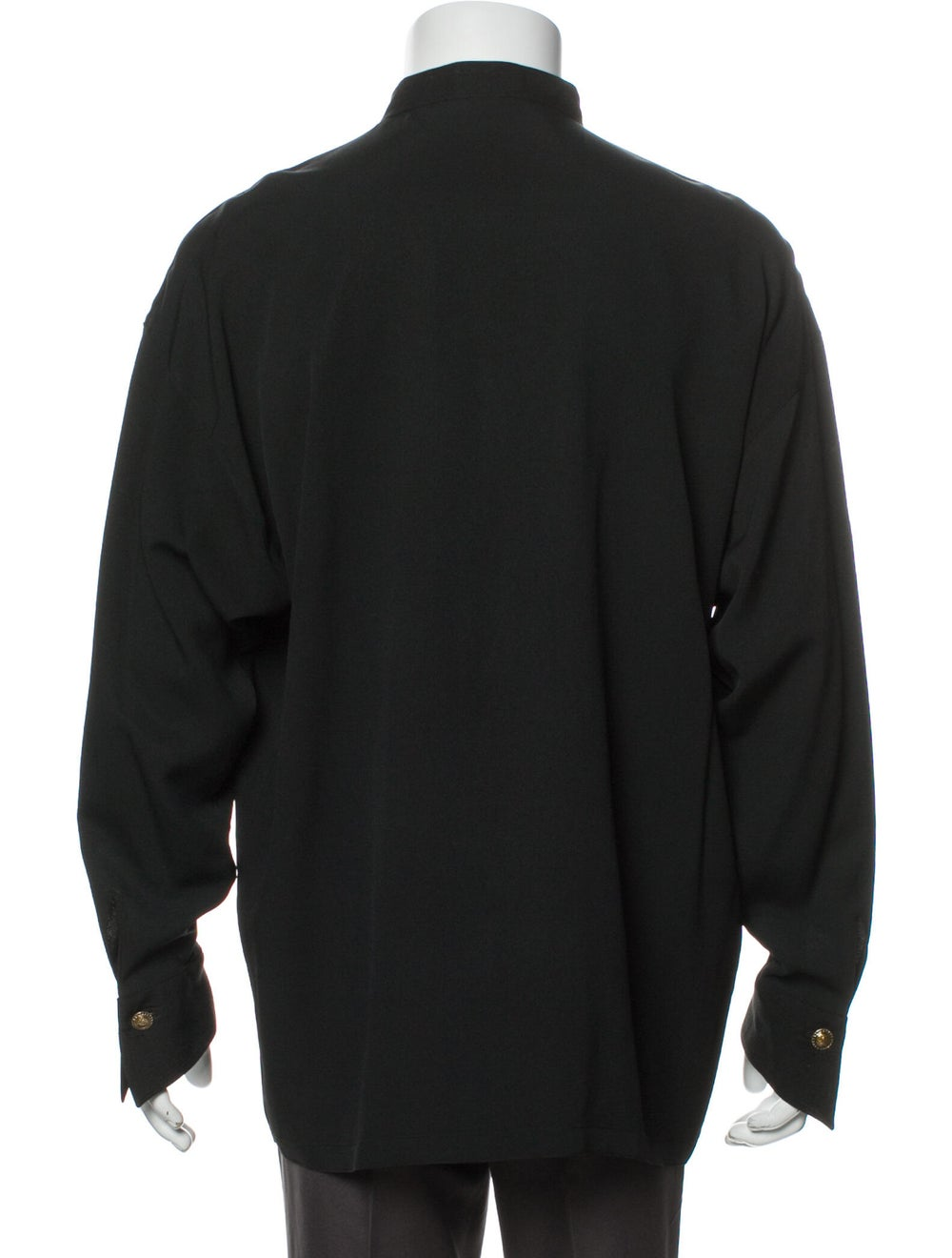 Gianni Versace Vintage 1990's Shirt Black - image 3