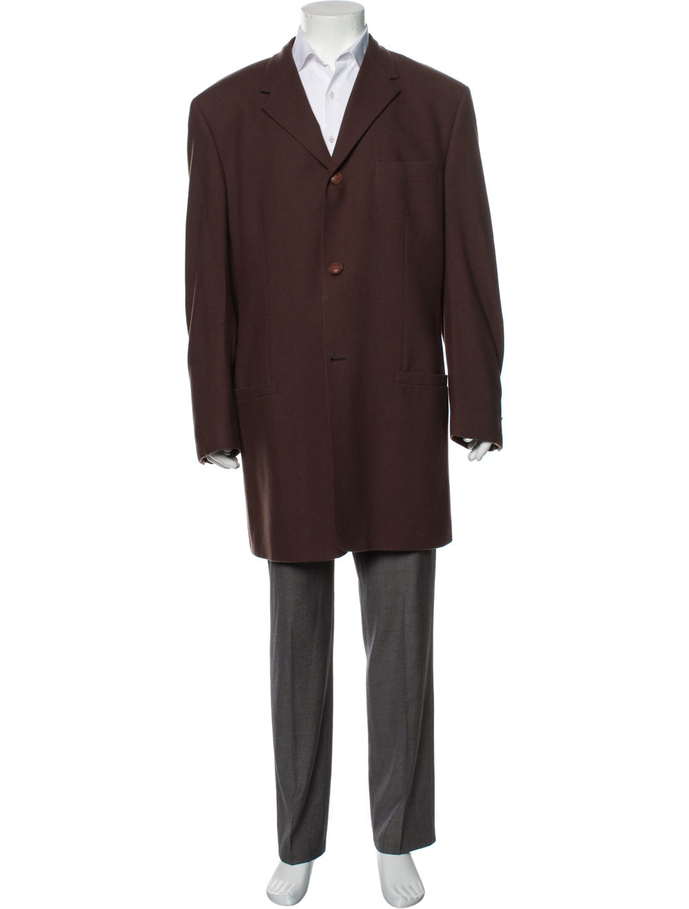 Gianni Versace Vintage Overcoat Brown - image 1