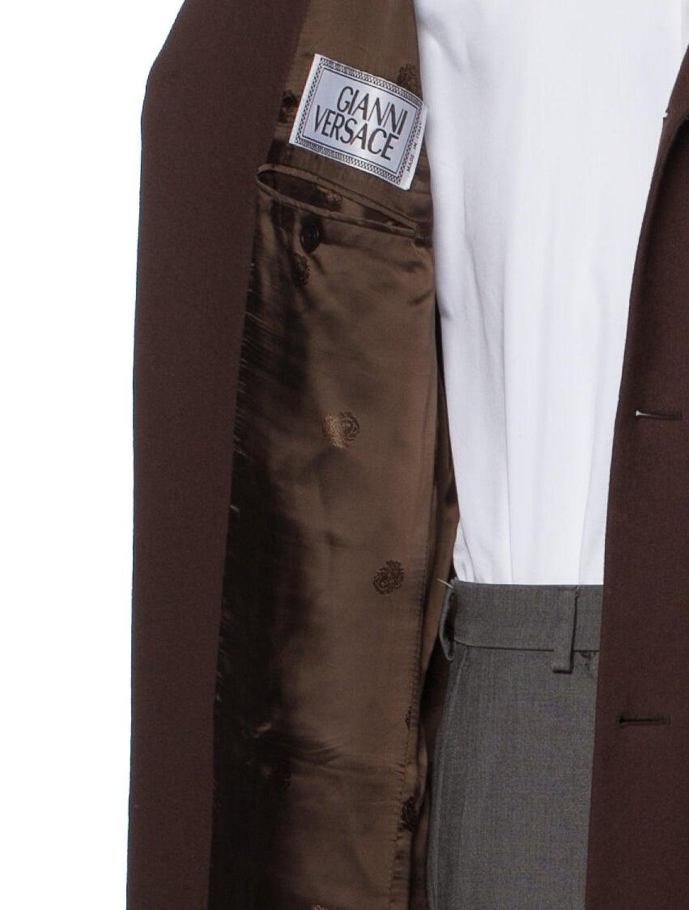 Gianni Versace Vintage Overcoat Brown - image 4
