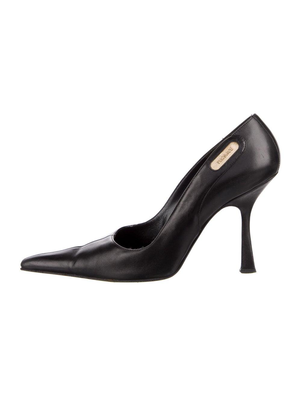 Gianni Versace Leather Pumps Black - image 1