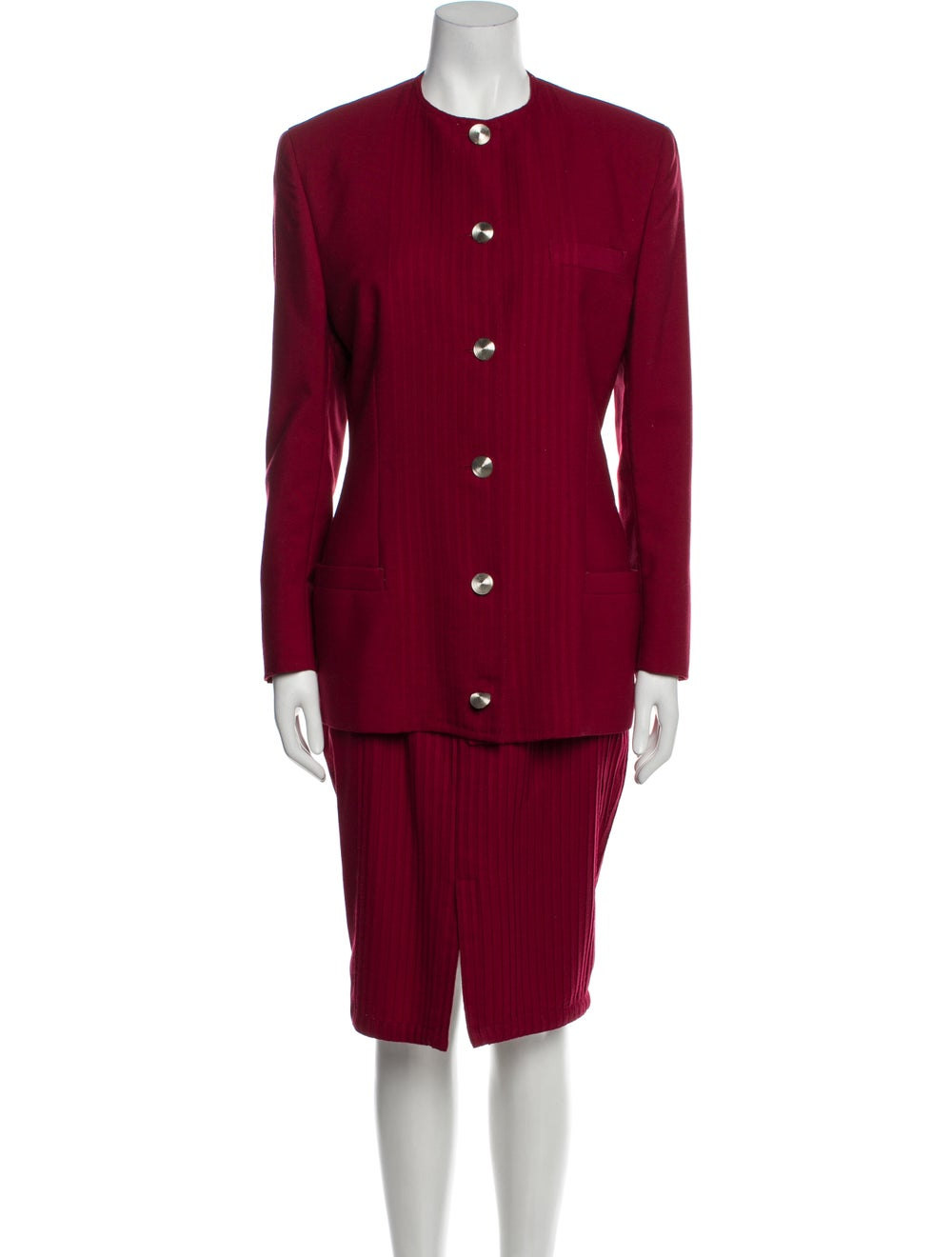Gianni Versace Vintage 1990 Skirt Suit Wool - image 1