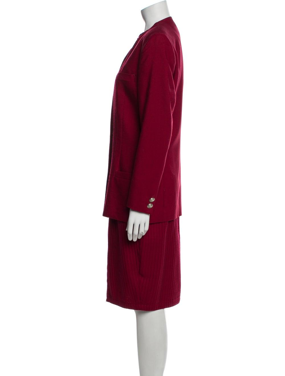 Gianni Versace Vintage 1990 Skirt Suit Wool - image 2