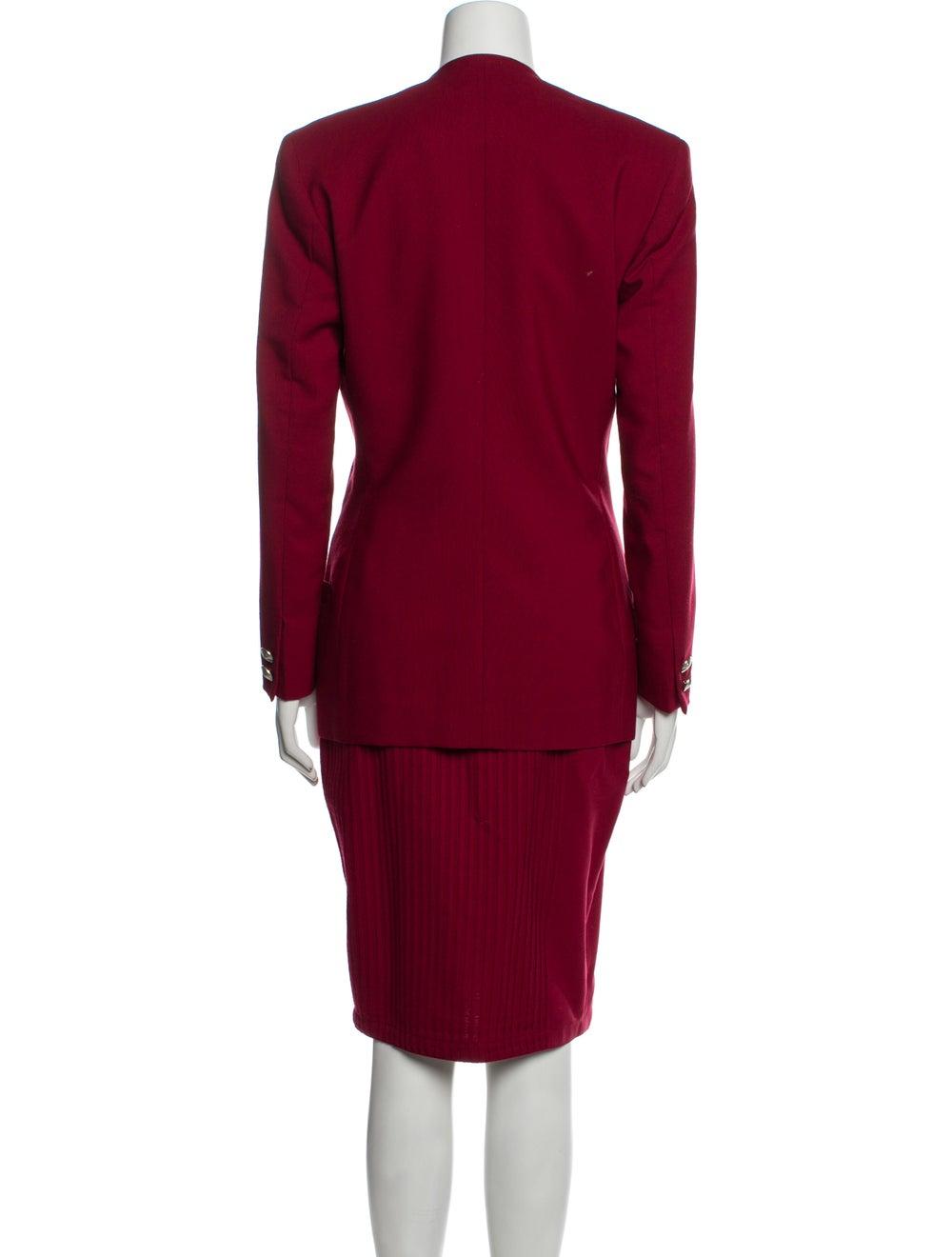 Gianni Versace Vintage 1990 Skirt Suit Wool - image 3