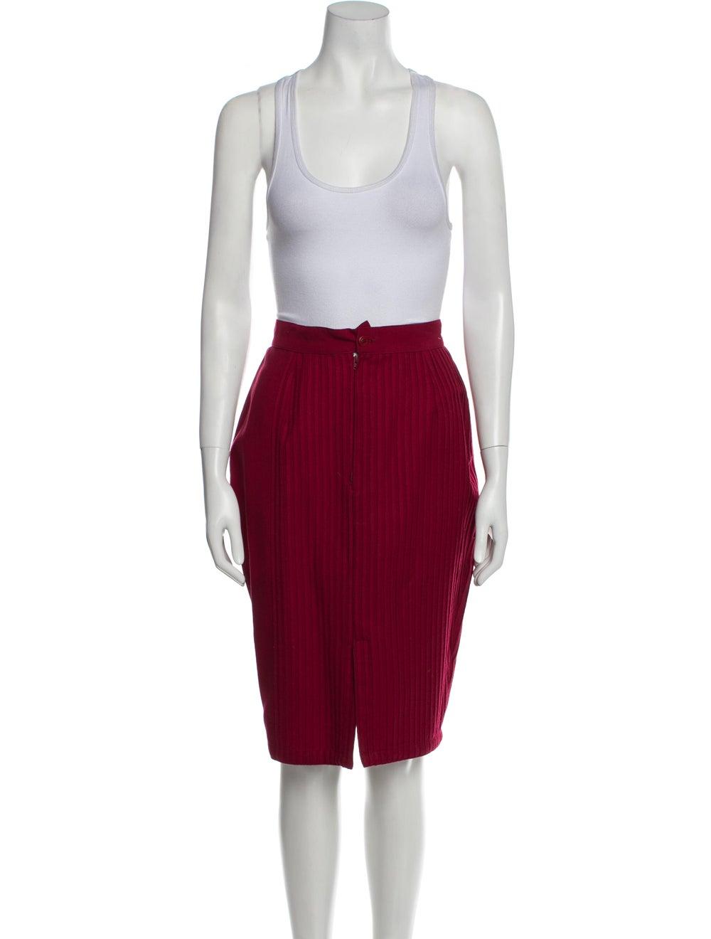 Gianni Versace Vintage 1990 Skirt Suit Wool - image 4