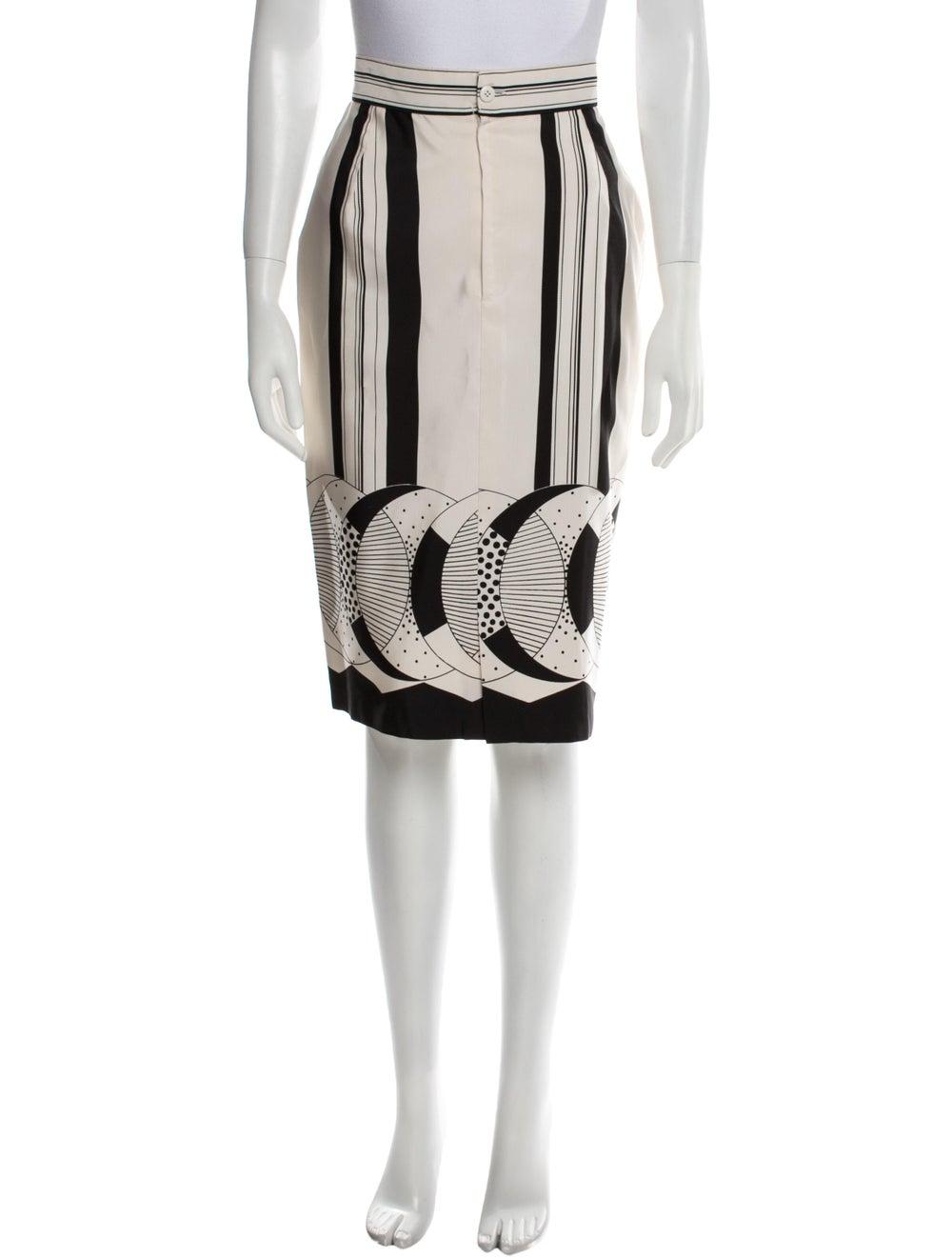 Gianni Versace Vintage Knee-Length Skirt White - image 1