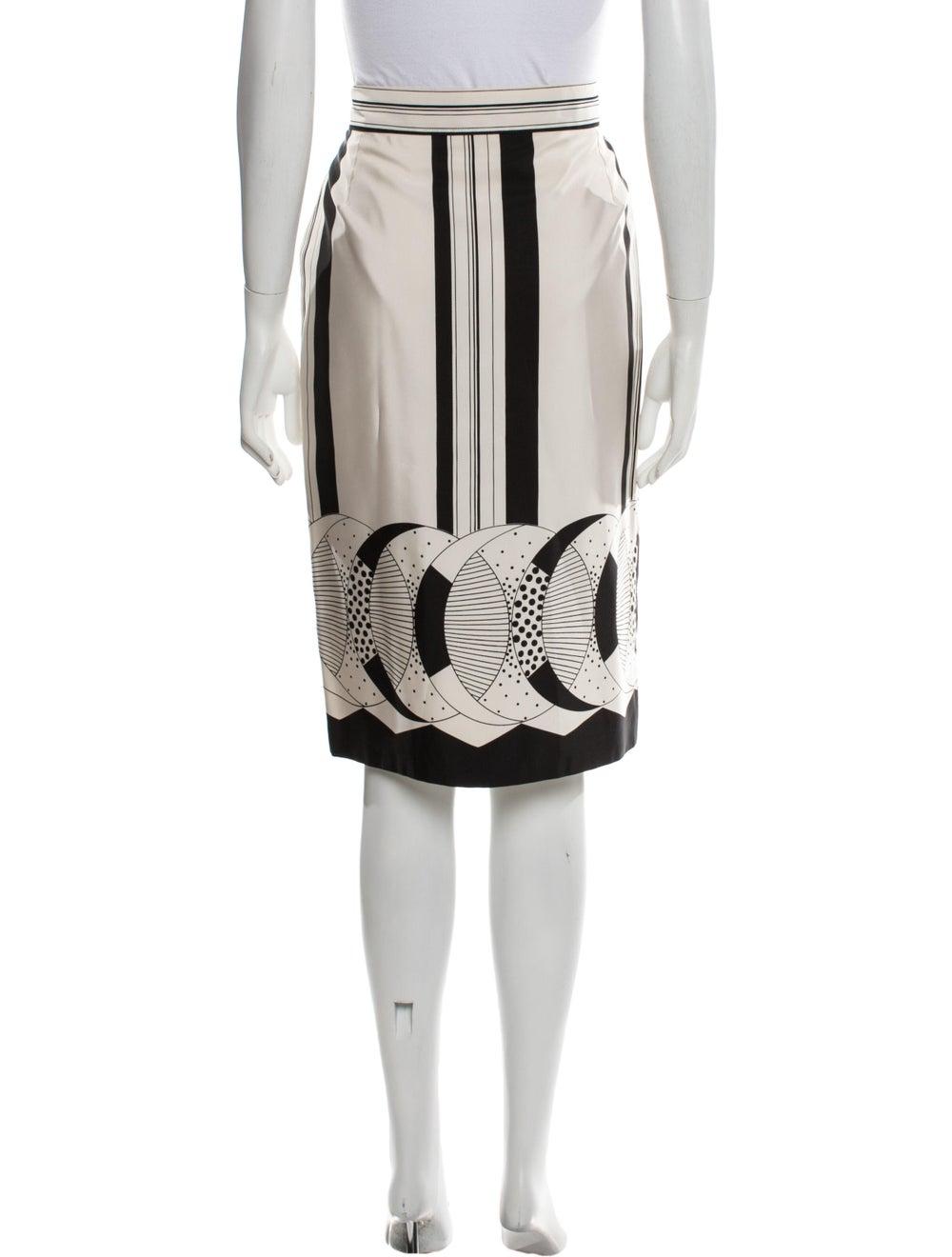 Gianni Versace Vintage Knee-Length Skirt White - image 3