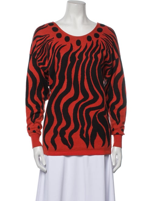 Gianni Versace Vintage 1990's Sweater Orange - image 1