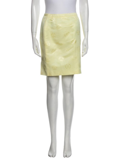 Gianni Versace Vintage Mini Skirt Yellow - image 1