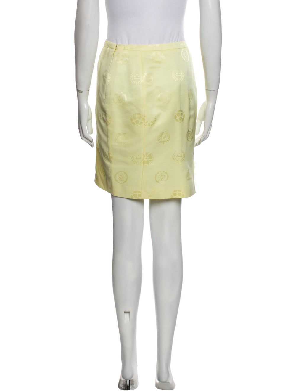 Gianni Versace Vintage Mini Skirt Yellow - image 3