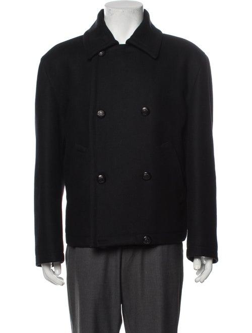 Gianni Versace Vintage 1990's Peacoat Black