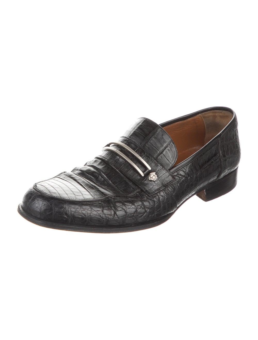 Gianni Versace Alligator Dress Loafers Black - image 2