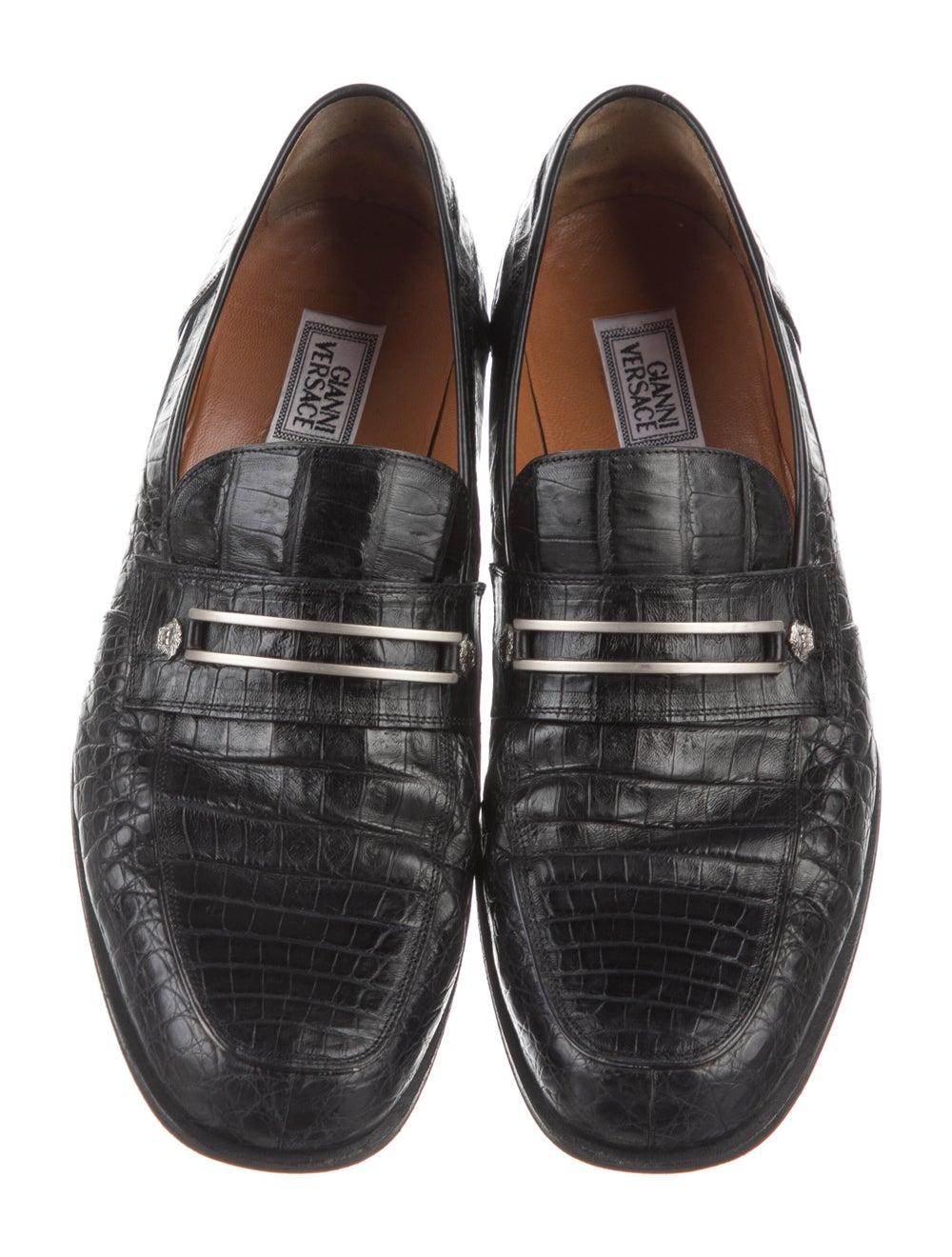 Gianni Versace Alligator Dress Loafers Black - image 3