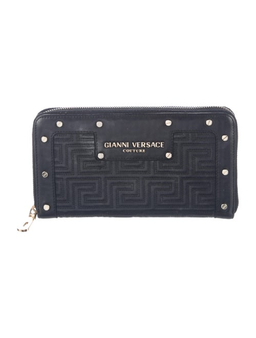 Gianni Versace Leather Continental Wallet Black - image 1