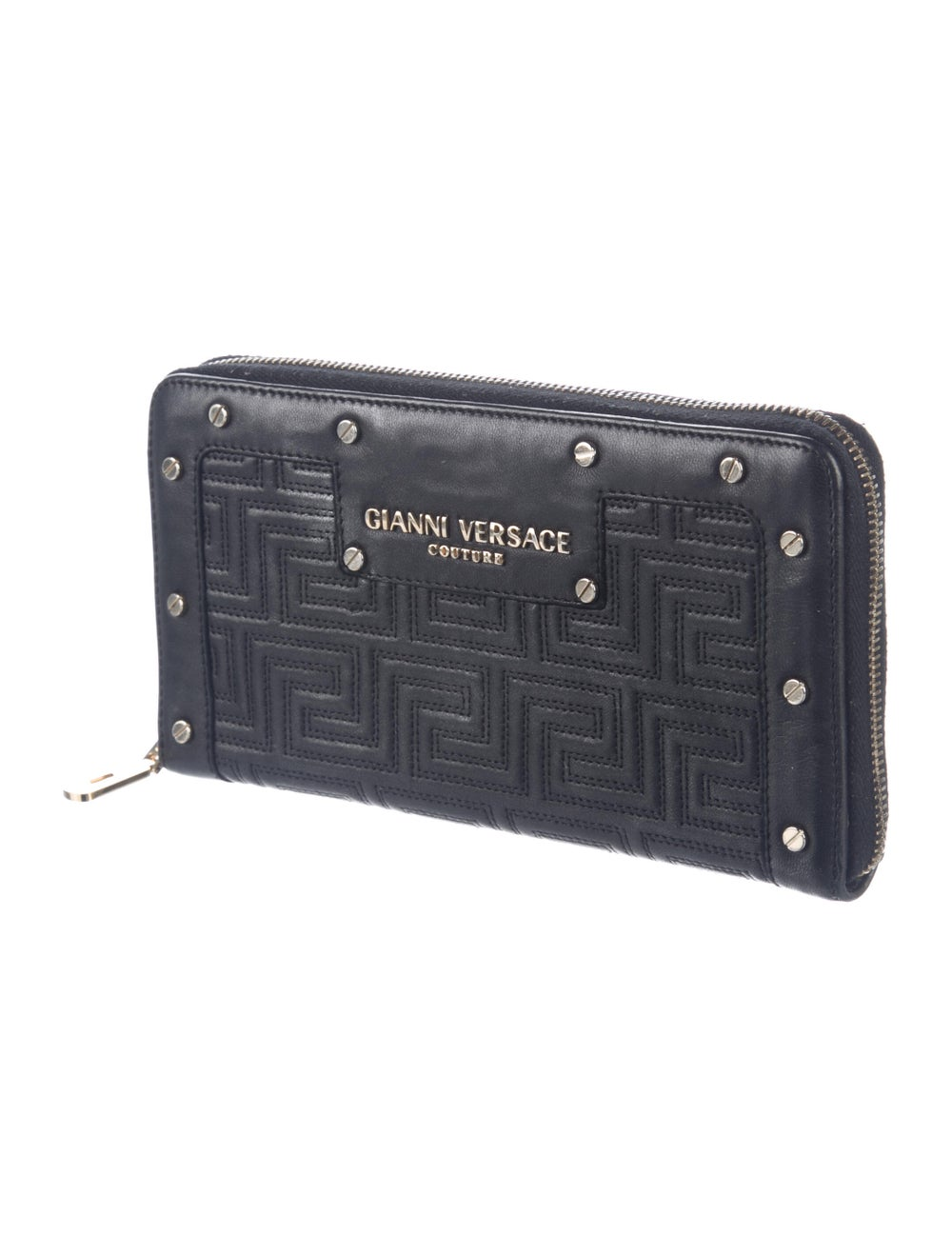 Gianni Versace Leather Continental Wallet Black - image 3