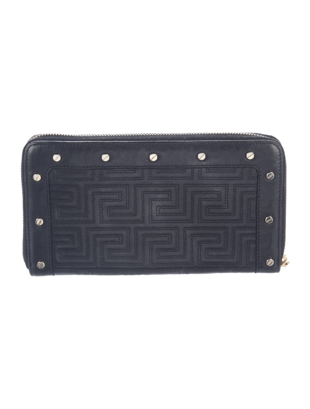 Gianni Versace Leather Continental Wallet Black - image 4