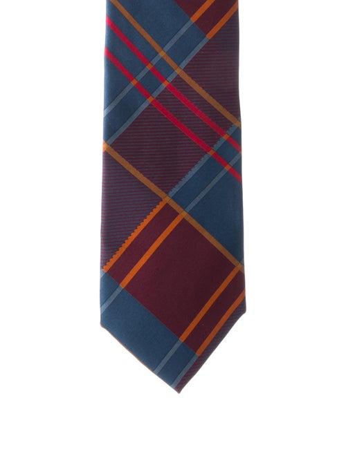 Gianni Versace Silk Plaid Tie multicolor - image 1