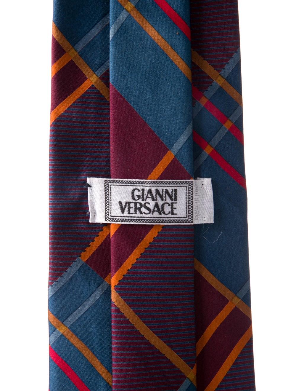 Gianni Versace Silk Plaid Tie multicolor - image 2