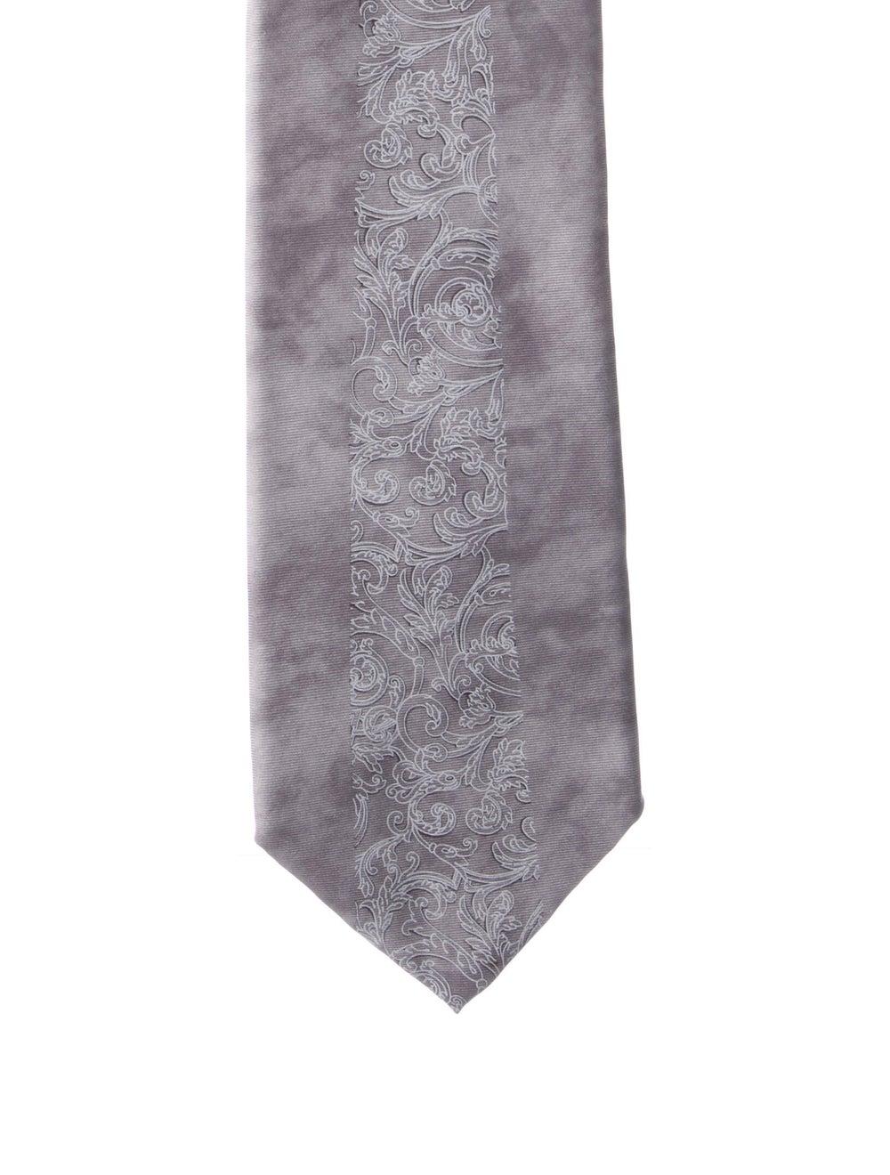 Gianni Versace Silk Printed Tie grey - image 1