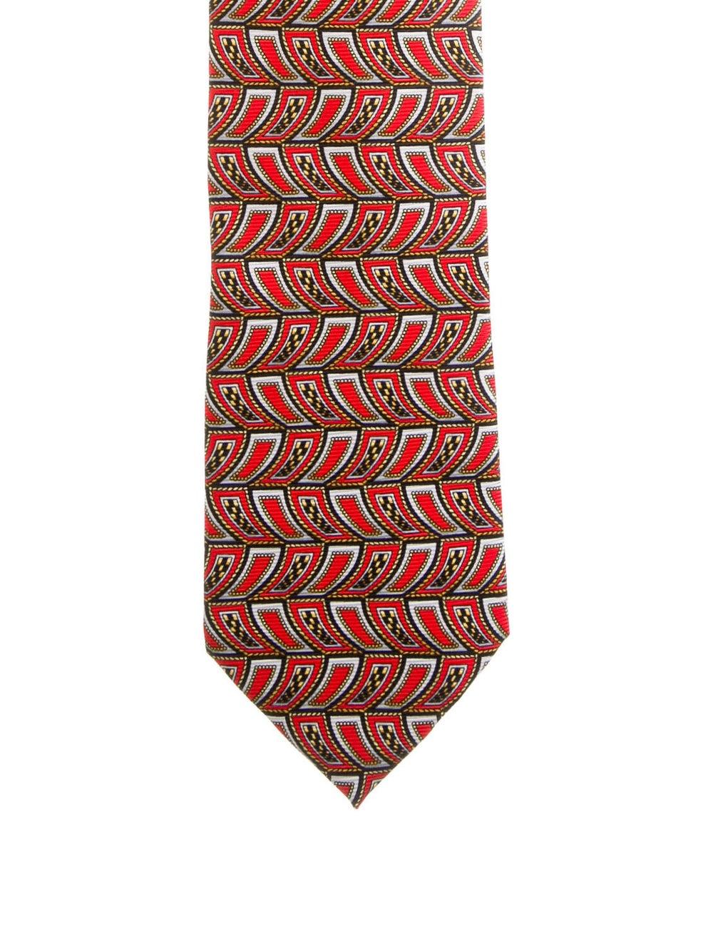 Gianni Versace Silk Printed Tie red - image 1